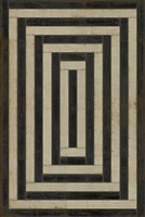 Pattern 30 Qin Vinyl Floorcloth - Luxury USA-Made Rug | BSEID