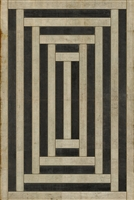 Pattern 30 Jin Vinyl Floorcloth - Luxury USA-Made Rug | BSEID