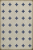 Luxury Designer Spicher & Company Pattern 24 Skyros Vinyl Floorcloth