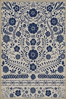 Spicher & Company Pattern 36 Liddell Vinyl Floorcloth - USA-Made Rug | BSEID