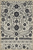 Spicher & Company Pattern 36 Lovecraft Vinyl Floorcloth - USA-Made Rug | BSEID