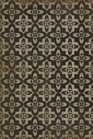 Spicher & Company Pattern 33 Boggled Vinyl Floorcloth - USA-Made Rug | BSEID