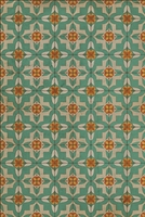 Luxury Designer Spicher & Company Pattern 33 Dutch Vinyl Floorcloth