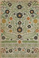 Spicher & Company Pattern 36 Prettiest Weeds Vinyl Floorcloth