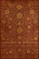 Spicher & Company Pattern 36 The Red Carpet Vinyl Floorcloth