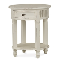 Bramble hollister white distressed rustic side table mahogany