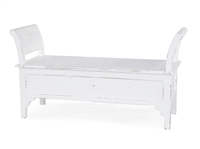 wood bench storage white