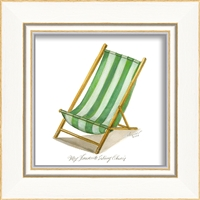 Green Sling Chair Art Print