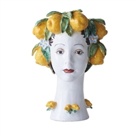 ceramic head vase lemons