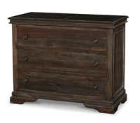 wood chest three drawers cocoa brown rustic