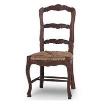 wood dining chair woven seat cocoa rush ladderback