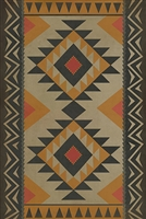 vinyl floor mat tribal pattern red orange black