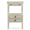 Bramble eton white pull out shelf two drawer side table mahogany