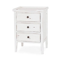 Bramble eton white three drawer side chest mahogany