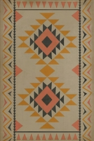 vinyl floor mat tribal pattern coral tan black