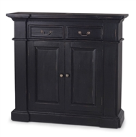 wood sideboard small black