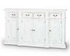 Bramble genoa harvest white large sideboard buffet distressed