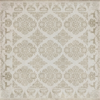 vinyl square floor mat floral tile pattern tan cream