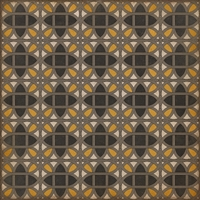 vinyl square floor mat lattice tile pattern black orange tan