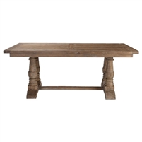 rectangle reclaimed wood dining table gray wash