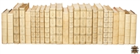 leather books assortment white embossed gold gilt spines