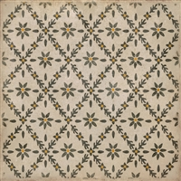 vinyl square floor mat flower tile pattern tan yellow