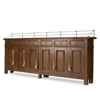 long traditional buffet, traditional sideboard, narrow wood buffet, narrow wood sideboard