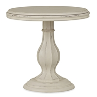 Bramble french quarter white harvest side table mahogany round distressed