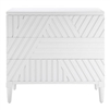 3-drawer chest modern geometric carved front white