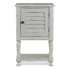 Bramble nightstand white distressed bedside table cabinet shutter shelf lakeside cottage casual bedroom