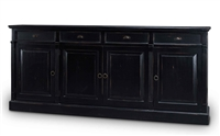 wood sideboard black cabinets drawers distressed