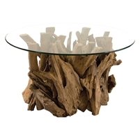 round glass coffee table, driftwood coffee table