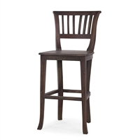 wood bar stool wooden seat cocoa