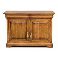 cabinet two door drawers adjustable interior shelves wood traditional fruitwood finish