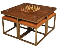 Low Game Table w/Four Stools