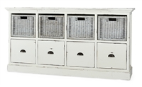 white storage chest wicker baskets drawers