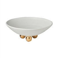 matte white footed plate white gold ceramic