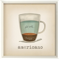 Americano - Canvas + Framed Wall Art