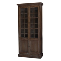 wood display cabinet glass door cocoa brown cabinet storage