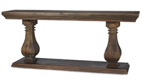 Bramble bayside console table in cocoa mahogany white washed