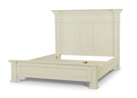 wood king bed white headboard footboard
