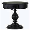 Bramble gloucester black harvest end table mahogany turned pedestal base