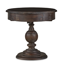 Bramble gloucester cocoa finish end table mahogany turned pedestal base