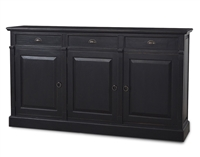 wood sideboard door drawers black
