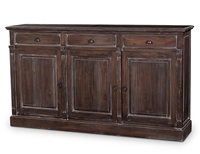 wood sideboard door drawers brown wood distressed buffet