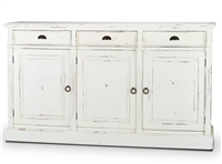 Bramble hudson harvest white three door sideboard buffet farmhouse distressed