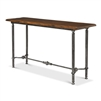 console table natural walnut wood iron base