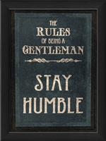 rules of a gentleman humble framed wall art