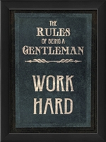 rules of a gentleman work framed wall art