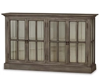 wood glass media cabinet bookcase gray traditional entertainment Bramble